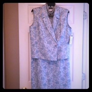 Womens Vintage Blue Suit